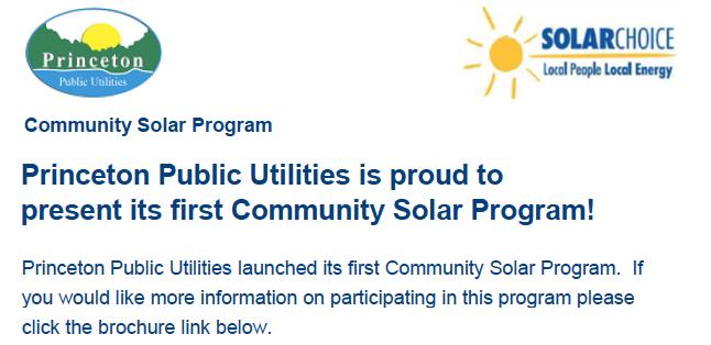 Community Solar Program