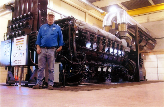 Newest Generation Plant Engine: Cat D3616, Installed 2003
