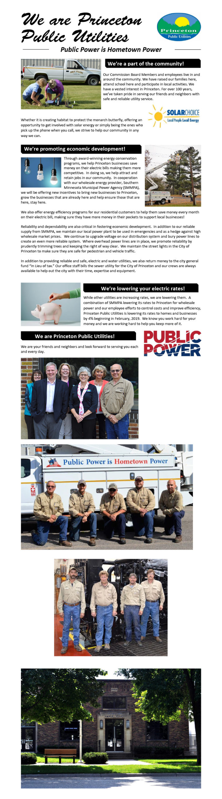 We Are Princeton Public Utilities