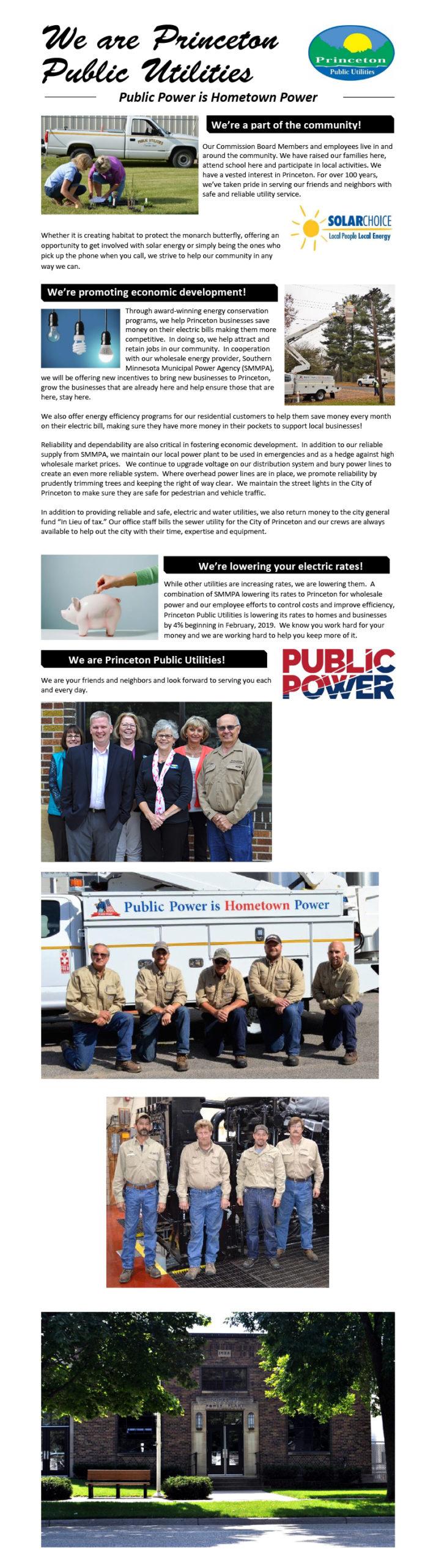 We Are Princeton Public Utilities
