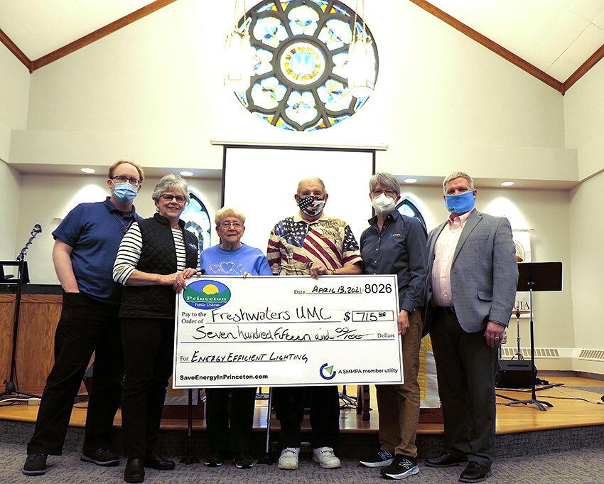 Freshwaters United Methodist Church Receives Rebate